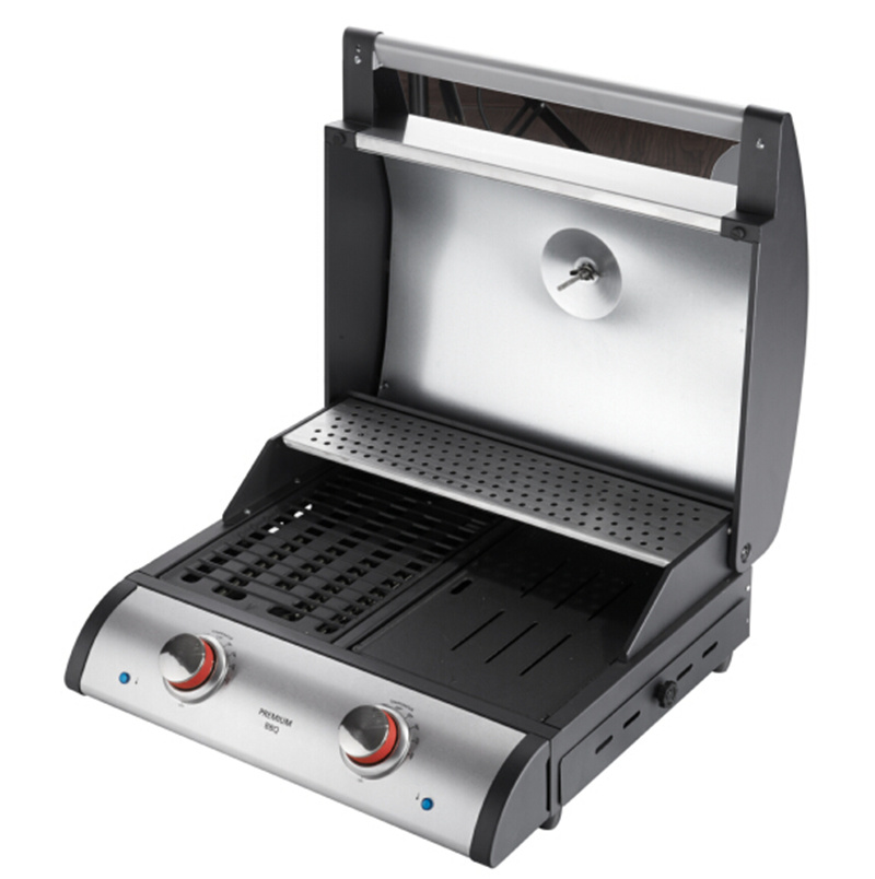 Cast Iron Grid Electric BBQ Plancha with Ce