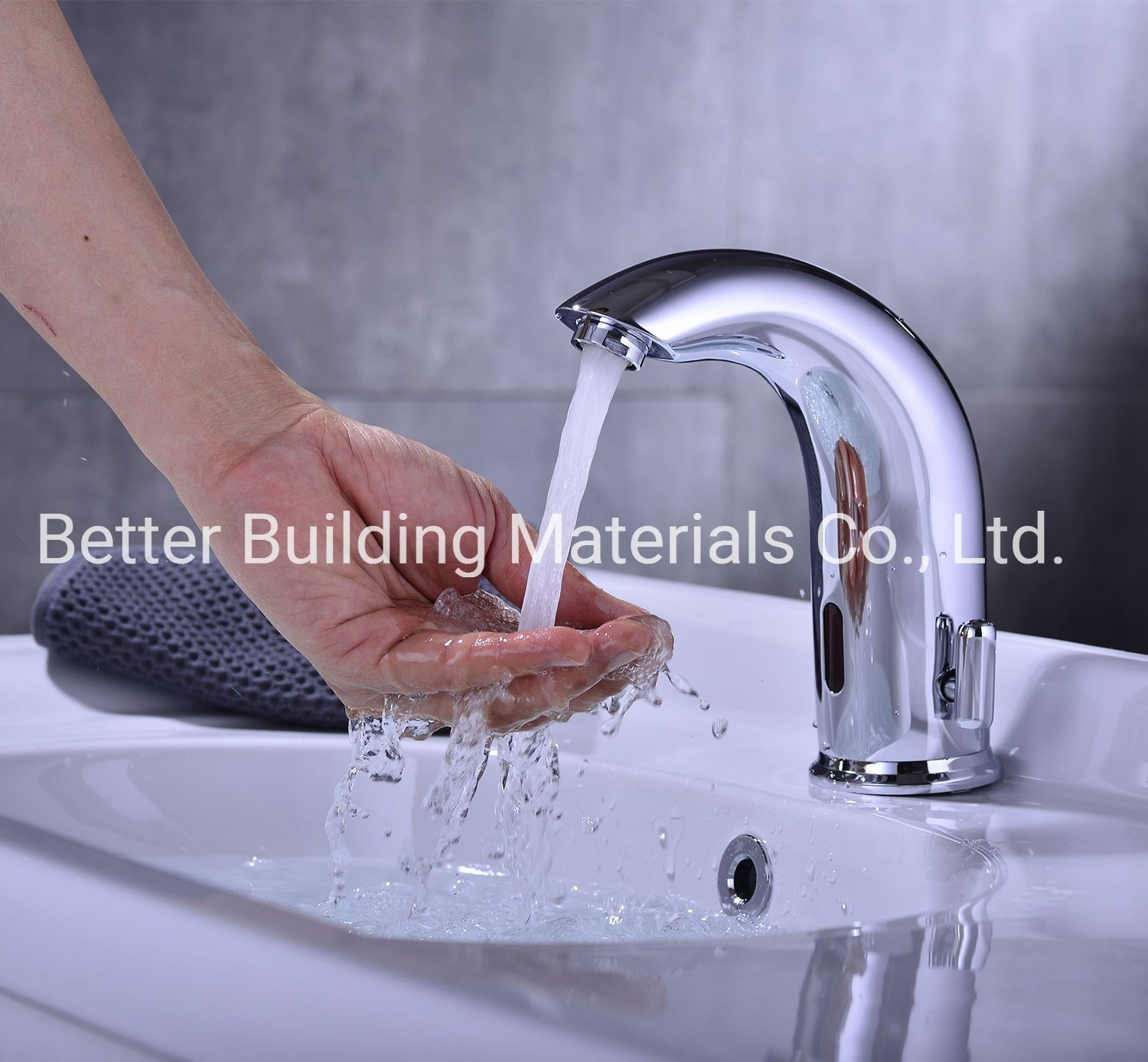 China Automatic Sensor Touchless Bathroom Sink Faucet With Hole Cover Plate Vanity Faucets Hands Free Bathroom Water Tap China Kitchen Tap Kitech Sink Mixer