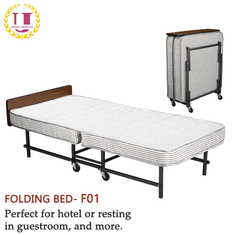 100% authentic 78689 8b526 [Hot Item] Bedroom Furniture Modern Single Folding Guest Bed with Headboard