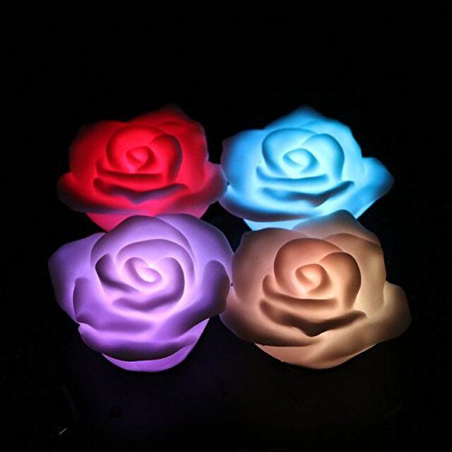 Flashing Rose Night Light Float Rose for Valentine Holiday pictures & photos