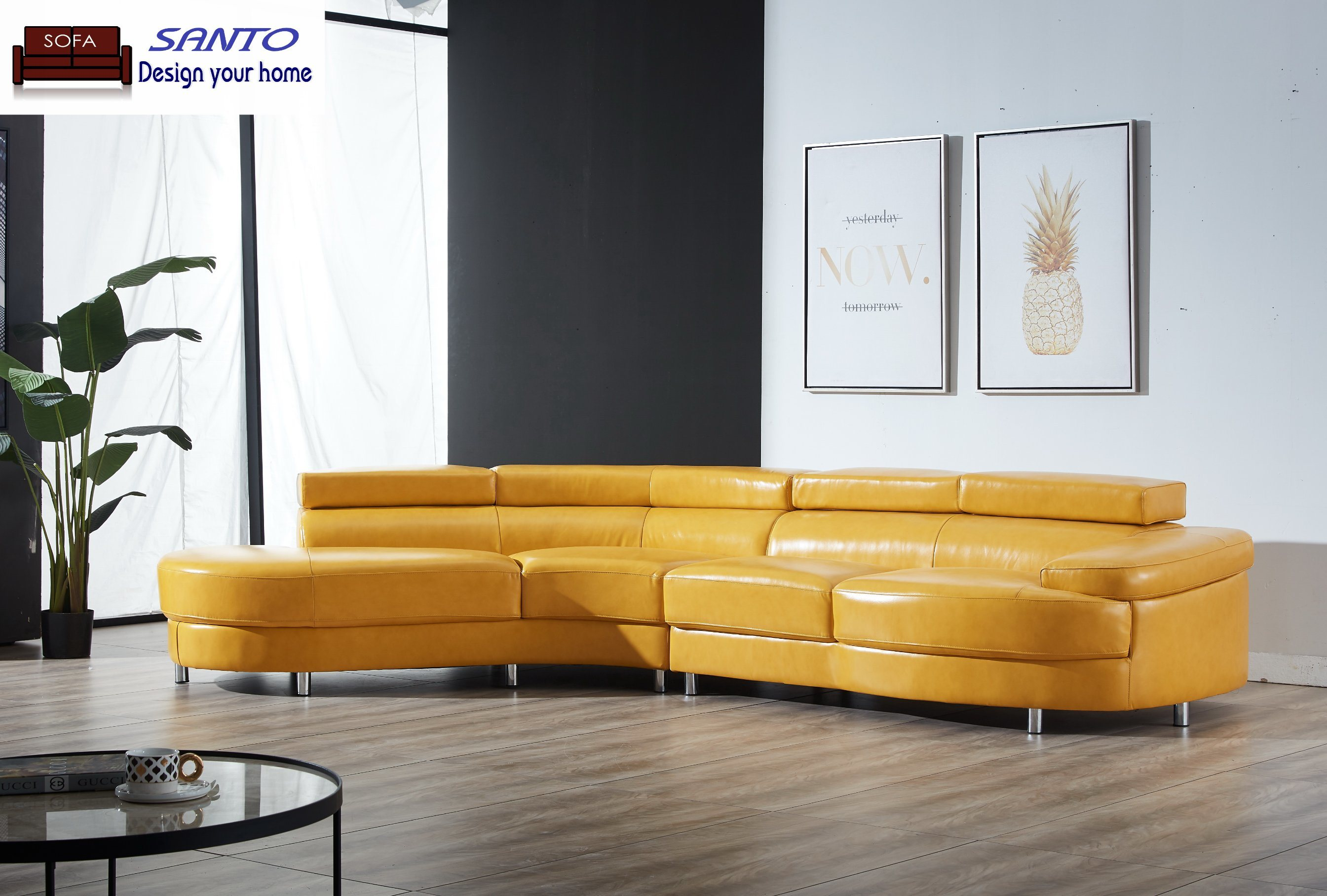 [Hot Item] Contemporary Italian Leather Sectional Sofa Italian Style Sofas  Design Leather Furniture Complete Home Furniture Famous Italian Furniture