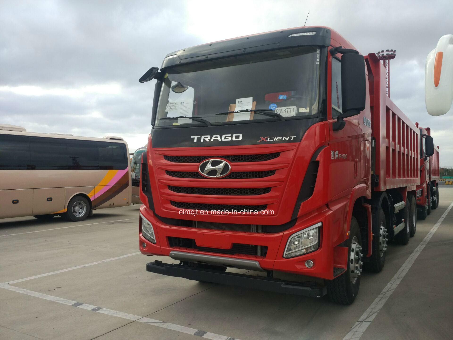 China New Hyundai Xcient 8x4 40 Ton Heavy Dumper Truck For Sale 1 8l Engine Dump Tipper
