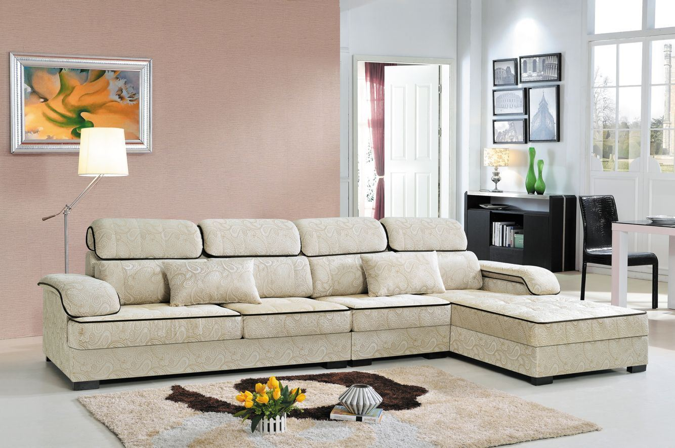 [Hot Item] New Model Linen Leisure L-Shaped Sofa Set for Living Room Sofa  Hotel Sofa Bed Fabric Sofa (FEC1209)