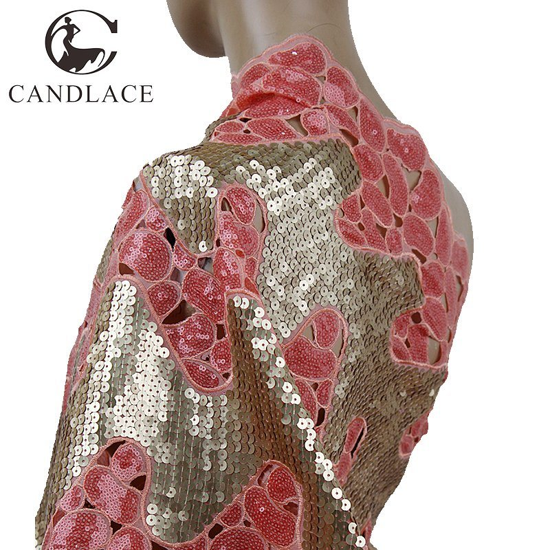 Fashion Design New Arrival Organza Sequence Lace Fabric