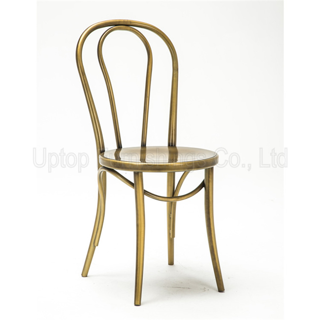 China (SP MC070) Wholesale Golden Cabaret Metal Thonet Cafe Chair   China  Cafe Chair, Restaurant Chair