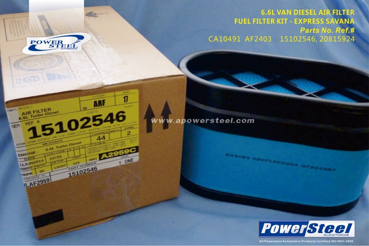 China Ca10491 Af2403 15102546 20815924 Powersteel Airfilter 66l 2006 Jeep Commander Fuel Filter Cabin Air Auto Filters