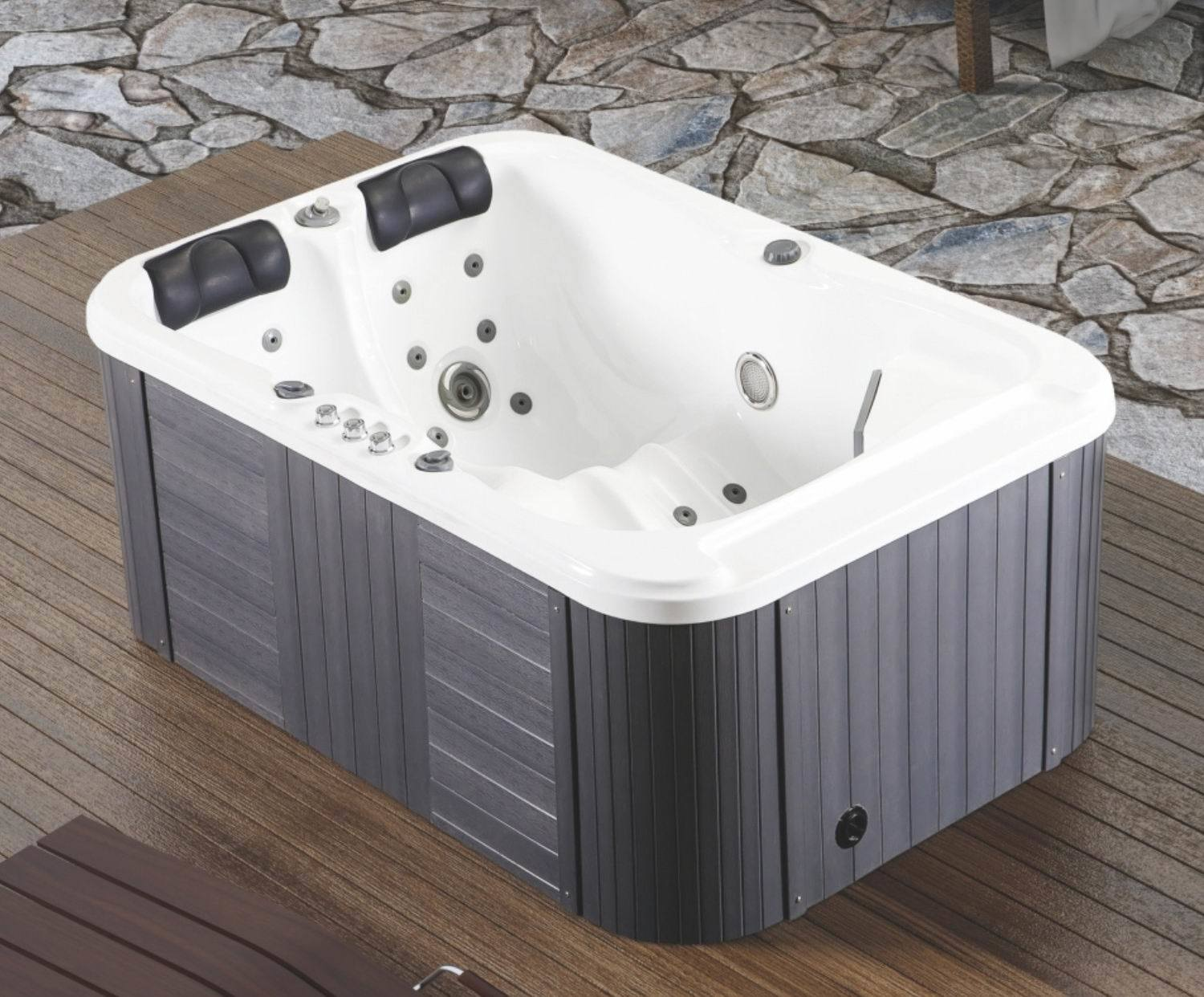 China Garden Freestanding Hot Tub for 2 Person Baths and Swimming ...
