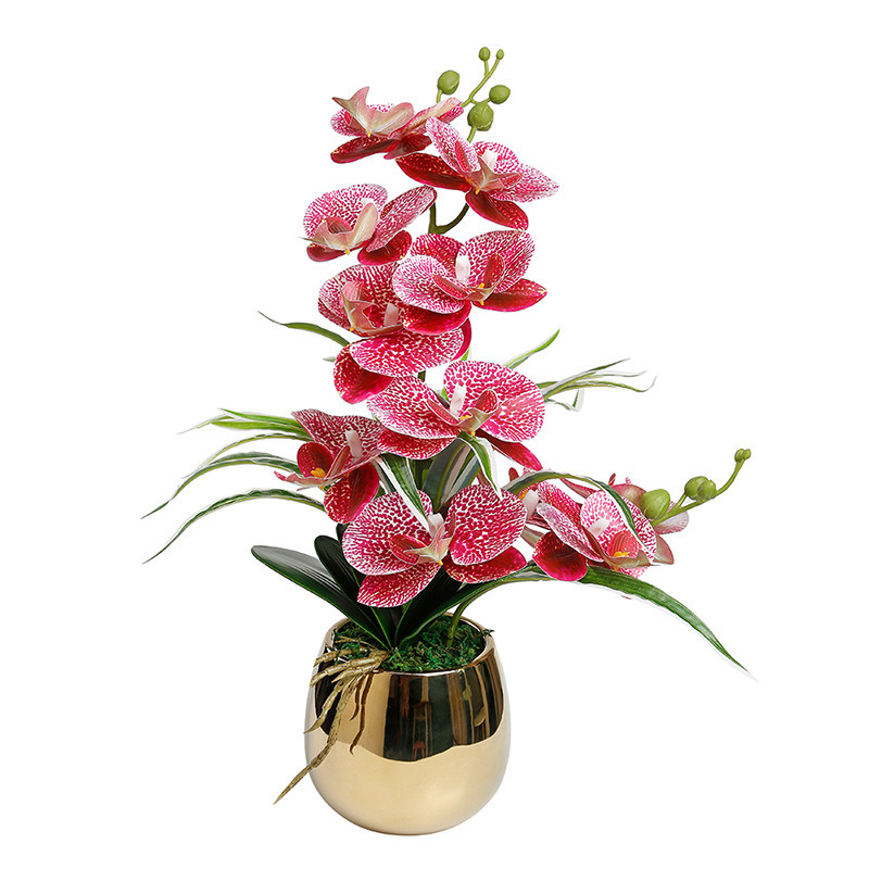 China High Simulation Real Touch Orchids Artificial Silk Orchid Flower Potted White Flower Arrangement China Artificial Flowers And Silk Flowers Price