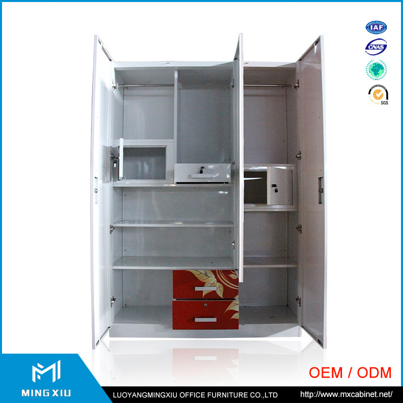 Mingxiu 3 Door Wardrobe Cabinet Used / Indian Bedroom Wardrobe Designs pictures & photos