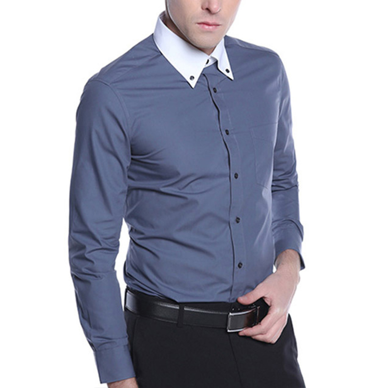347d282ce Wholesale Cotton Grey Mens Dress Shirts China Manufacturer - China Shirt,  Men′s Shirt