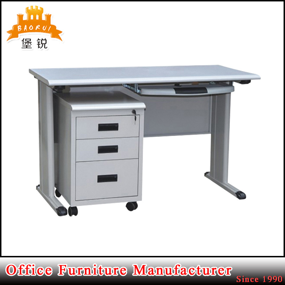 China High Quality Kd Hot Steel Office Desk With Locking Drawer Metal
