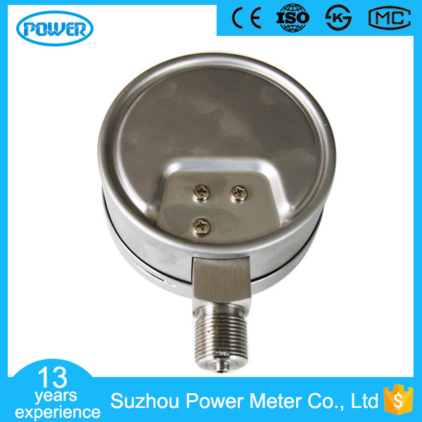 100mm Full Stainless Steel Bottom Type 6kpa Capsule Pressure Gauge
