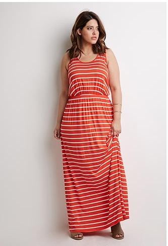 6e2ea66296b China Fashion New Plus Size Striped Maxi Casual Dress for Fat Women ...