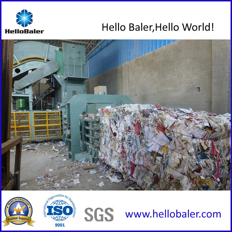 Automatic Horizontal Waste Paper Baler with Ce Cetificate pictures & photos
