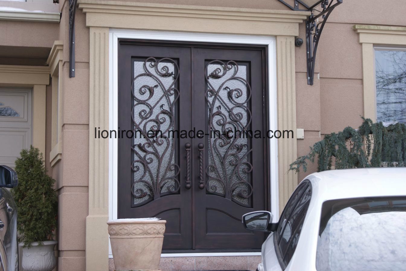 China Comtemporary Design Wrought Iron Screen Doors China Wrought