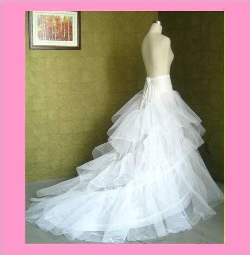 China Long Sweep Train Petticoat for Wedding Dress Factory Direct ...