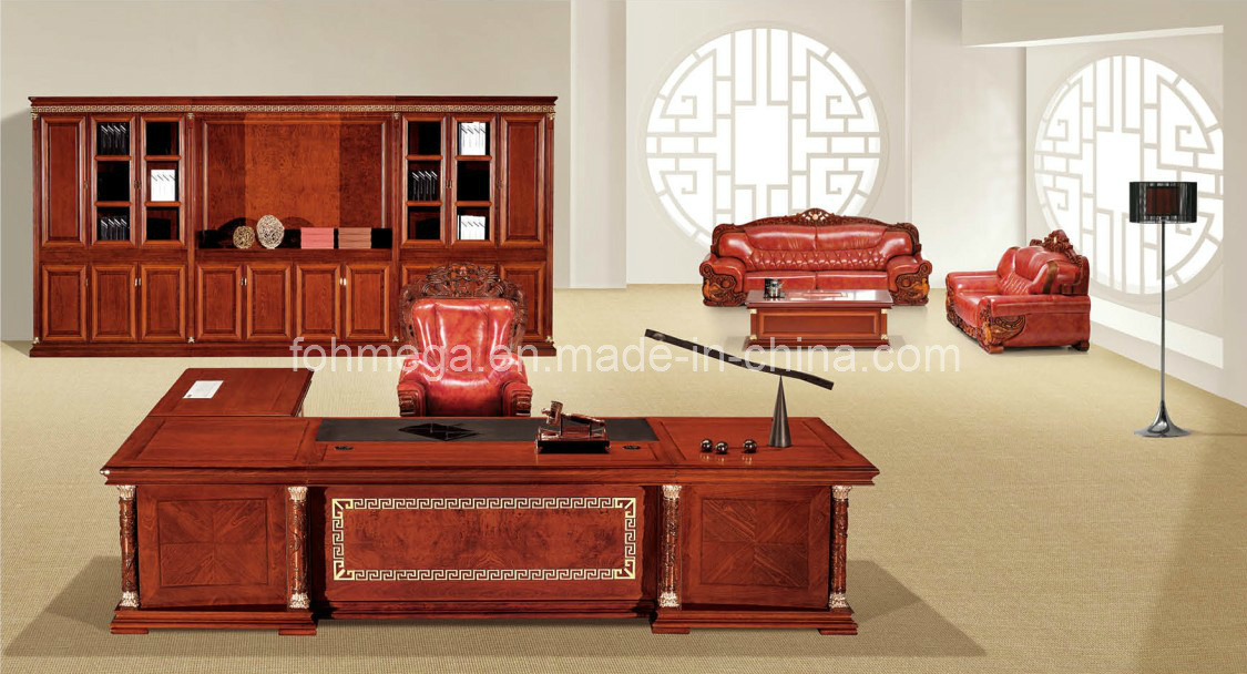 China Luxury Presidential Table King Throne Royal Office Furniture Foht 01