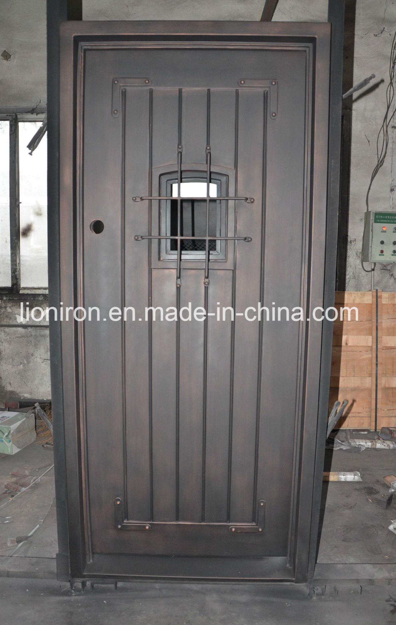 China Home Used Exterior Folding Steel Doors Entry Iron Door Photos