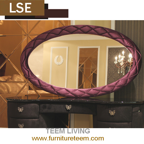 China Post Modern Bedroom Furniture Decorative Wall Round Dressing Mirror Square