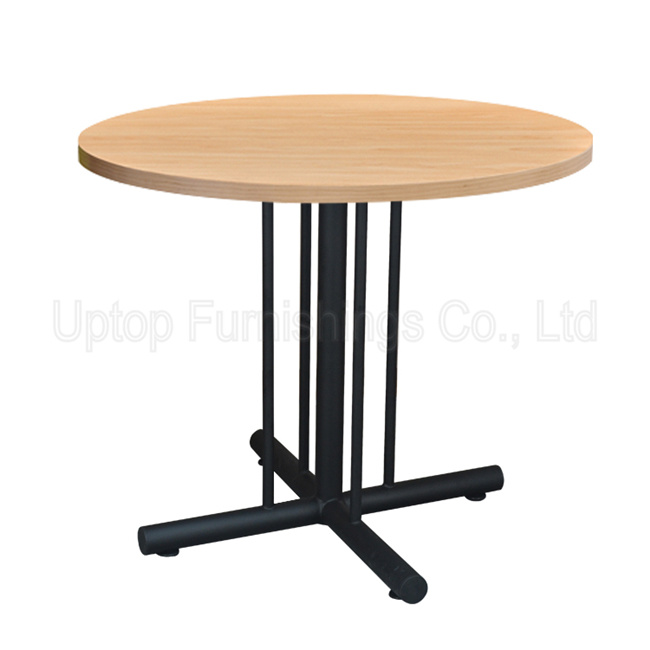 China Metal Base Plywood Laminate Round Cafe Table SPRT - Round metal cafe table