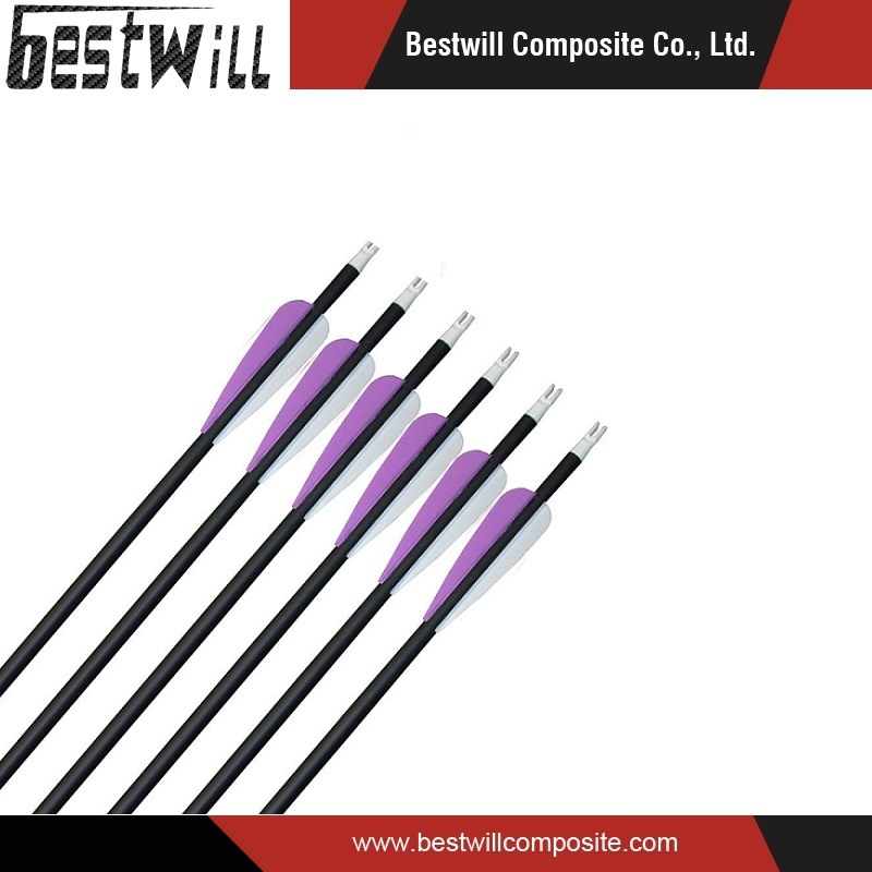 china different color carbon fiber arrow shaft for