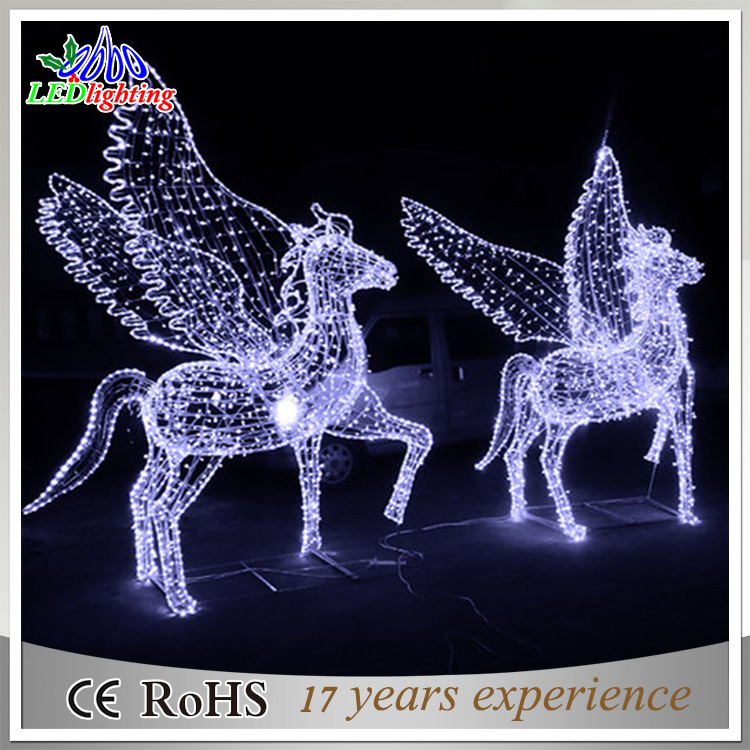 Christmas Horse.Hot Item Christmas Holiday Decoration 3d Motif Horse Waterproof Led Street Light