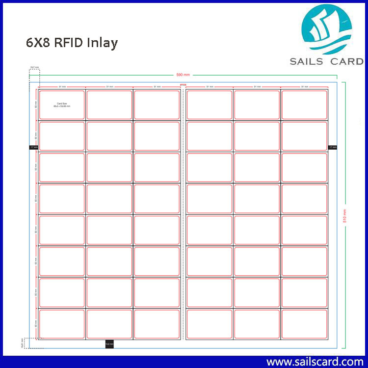 Different Layout Plastic RFID Inlay Prelam Sheet for Proximity Smart Card Making pictures & photos
