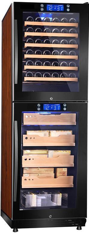Hot Item 2017 New Compressor Large Display Wine Cooler Cigar Humidor Cabinet