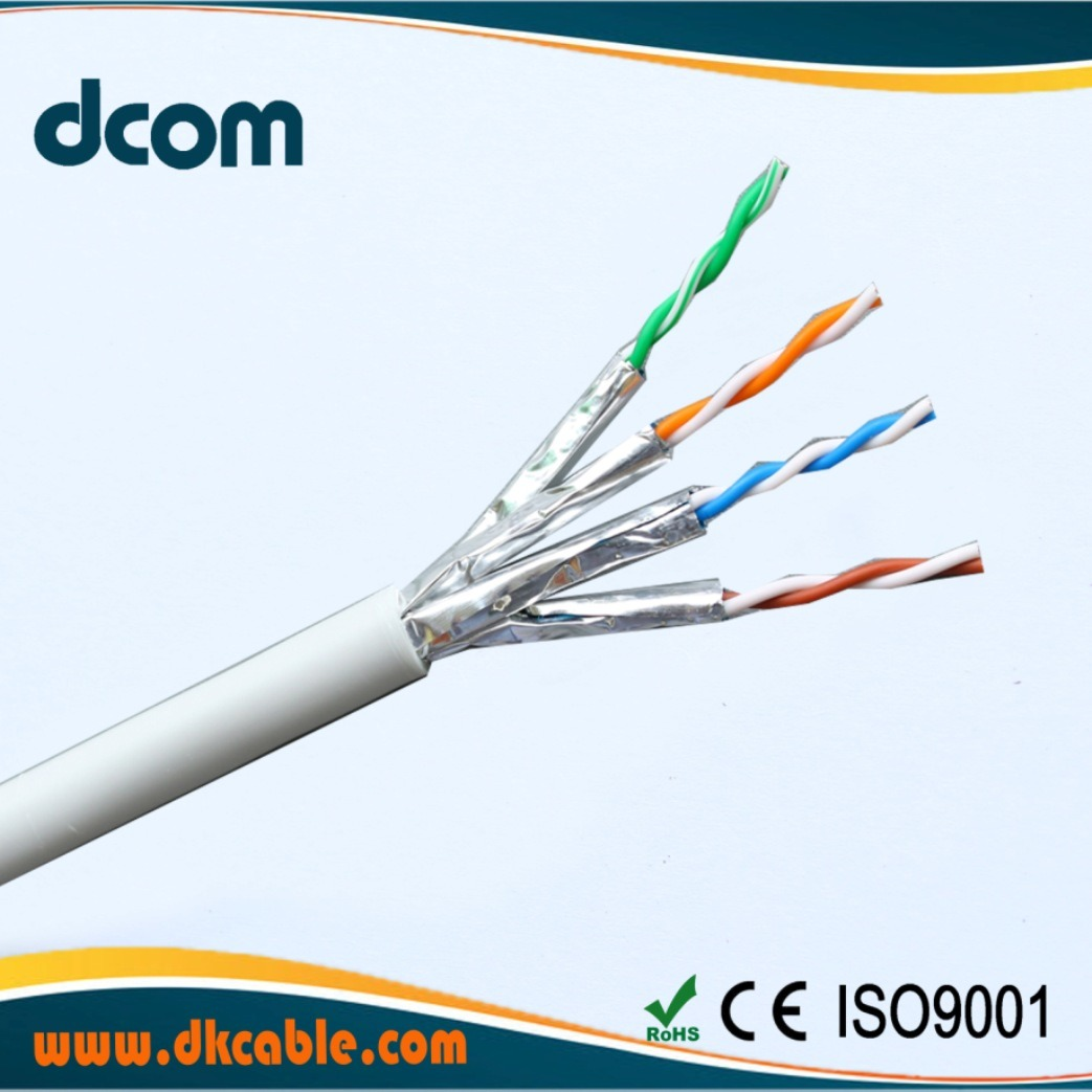 China High Speed Solid Bare Copper Cable CAT6A Pass Fluke with UL ...
