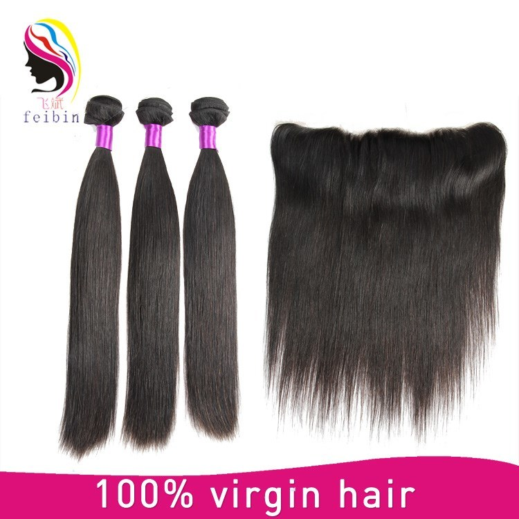 China Natural Color Unprocessed Remy Brazilian Straight Virgin Human