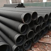 China Corrosion Resistant HDPE Double-Wall Corrugated Pipe