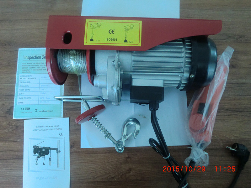 China Pa800 Pa500 Pa1000 Mini Electric Winch Hoist Photos Pictures