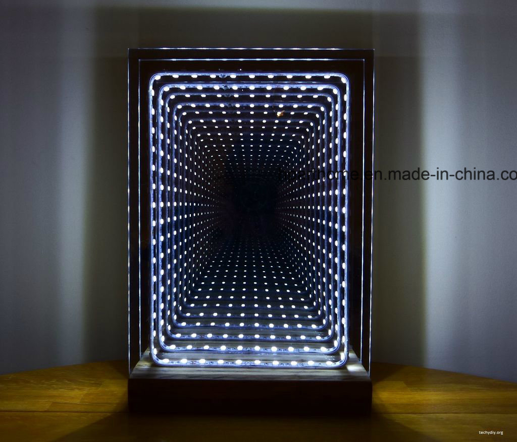 Large LED Wall Mounted Bathroom Infinity Mirror with RGB
