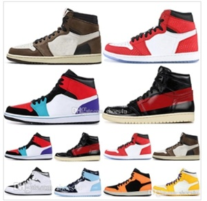 new products c0f8e f4bc0 [Hot Item] 1 High Og Travis Scotts Basketball Shoes Spiderman Unc 1s Top 3  Mens Homage to Home Royal Blue Men Sport Designer Sneakers Trainers