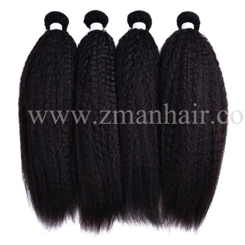 China Popular Remy Clip In Hair Extensions With Kinky Straight