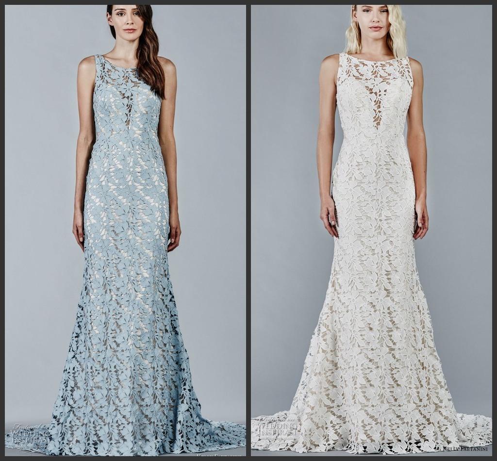 China Blue Ivory Bridal Prom Party Dress Sleeveless Lace Wedding ...