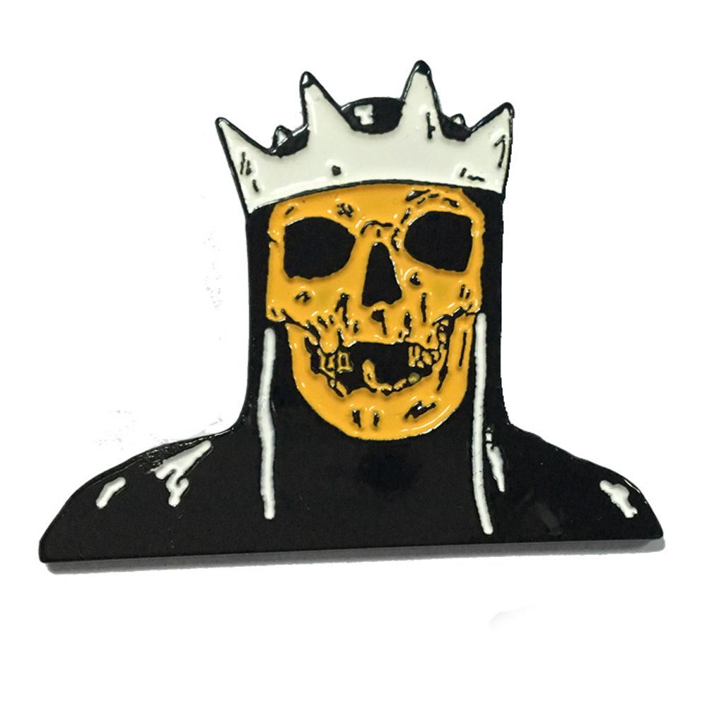 [Hot Item] American Skull Logo Glow in The Dark Enamel Lapel Pin