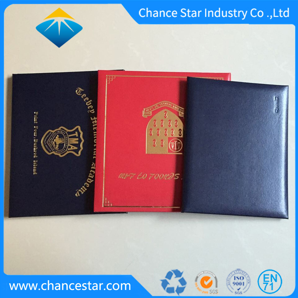 China Custom Diploma And Certificate Folder Pu Degree Certificate