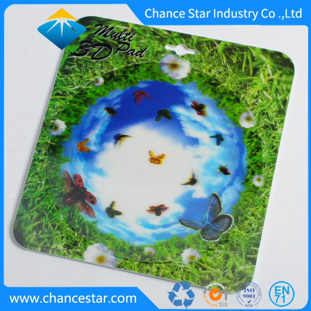 China custom lenticular printed promotion 3d plastic mouse pad