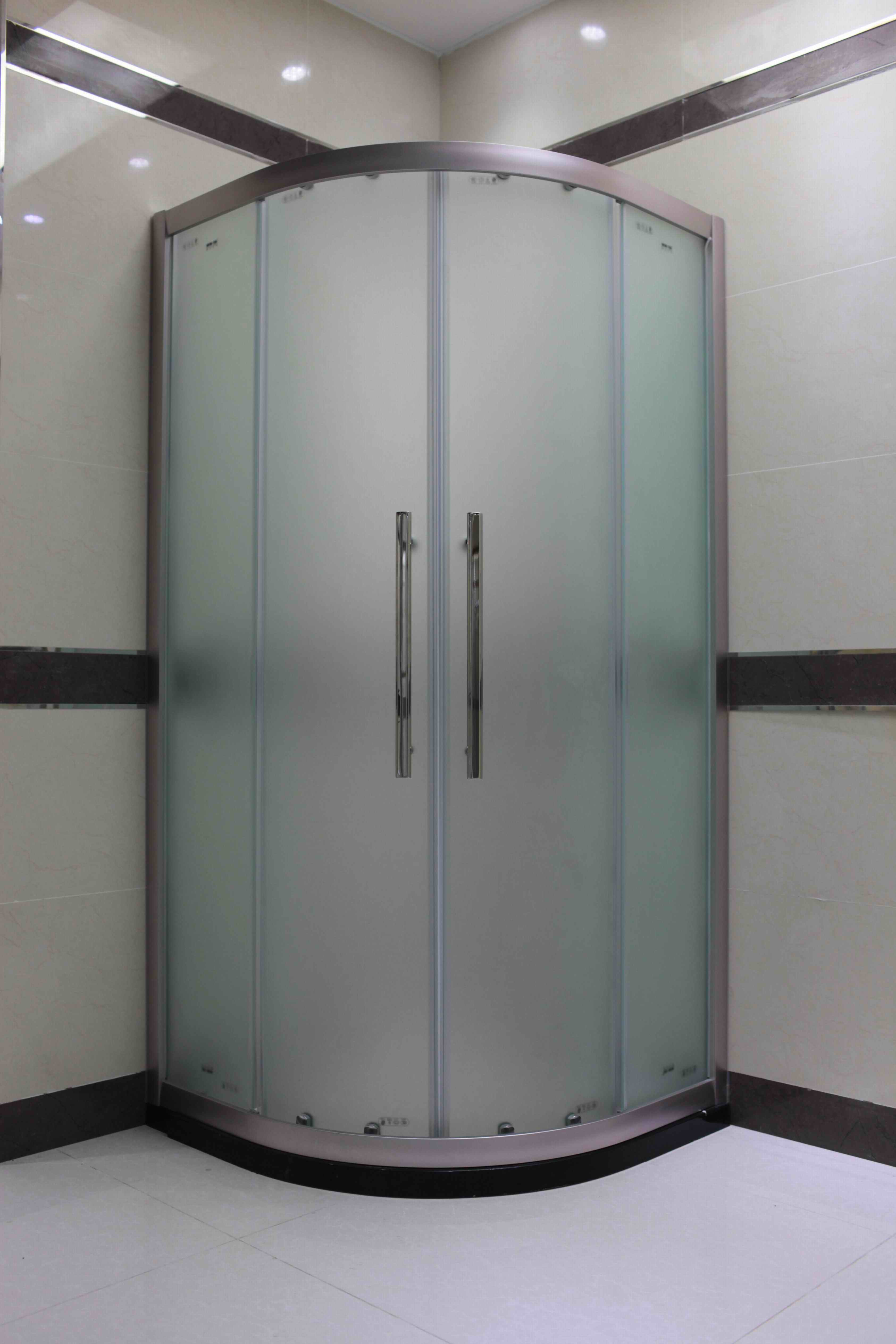 Hot Item Boni Bathroom Frosted Glass Brushed Aluminium Quadrant Shower Enclosure