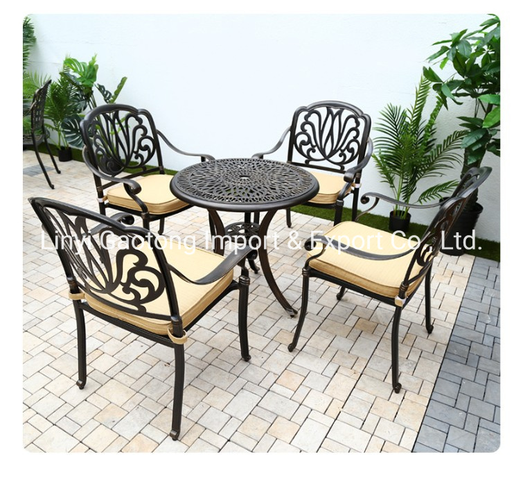 Metal Leisure Dining Chair 5 Piece Cast, Cast Aluminium Garden Furniture