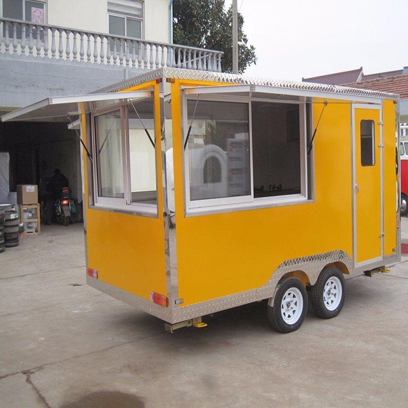 China Food Kiosk Food Cart Outdoor Hamburger Cart Snack Retail Food