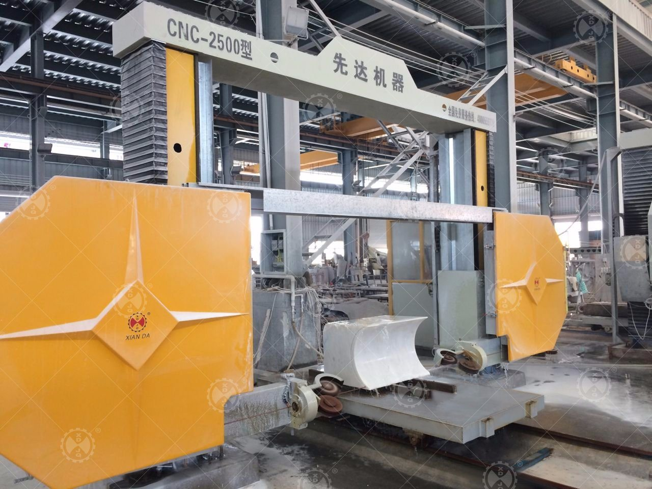 China CNC Diamond Wire Saw Stone Cutting Machine for Marble and ...
