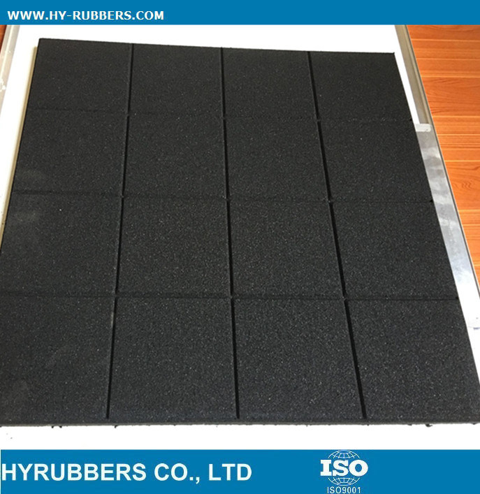China General Use Cheap Price Square Rubber Floor Tile Outdoor
