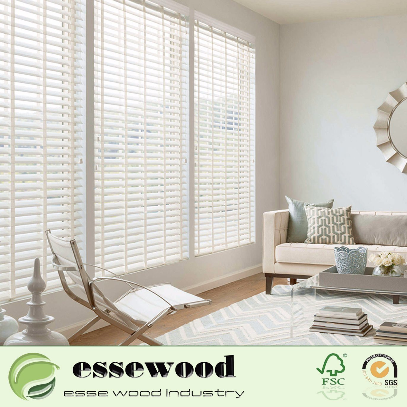 Hot Item Exterior Interior Wooden Operable Louver Composite Wood Shutter