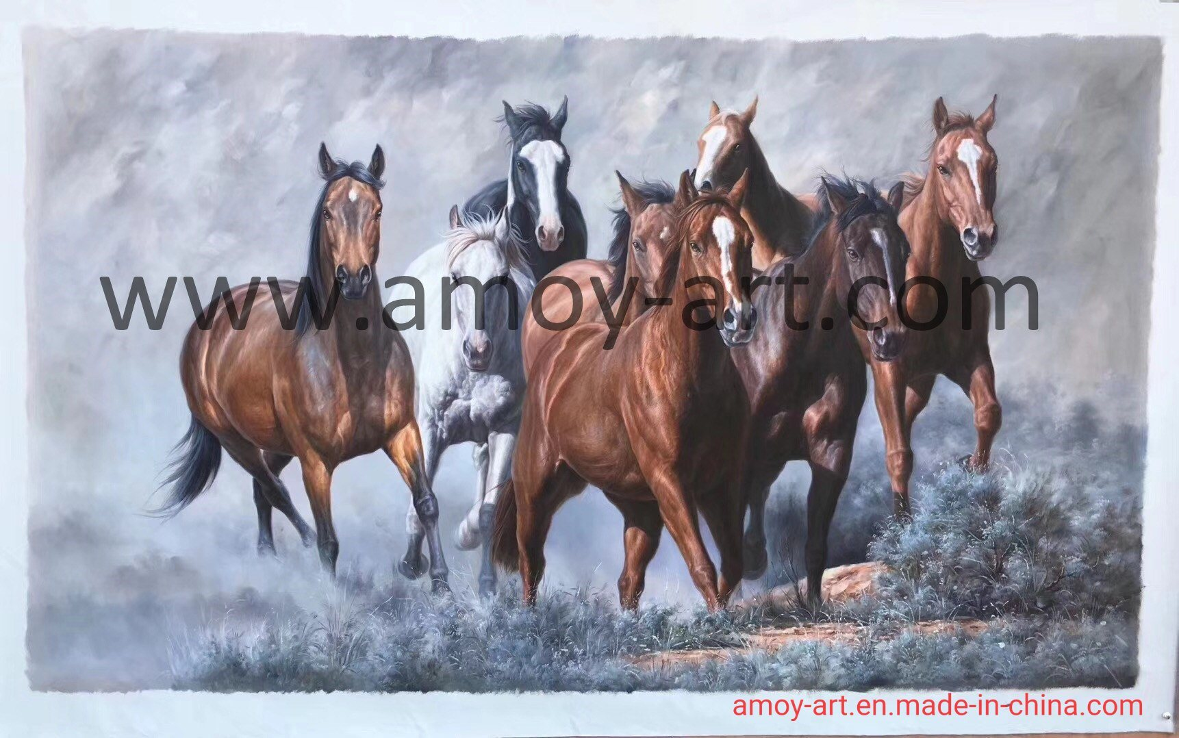China Handmade Running Horse Oil Paintings For Home Decoration China Reproduction Oil Painting And Canvas Oil Painting Price