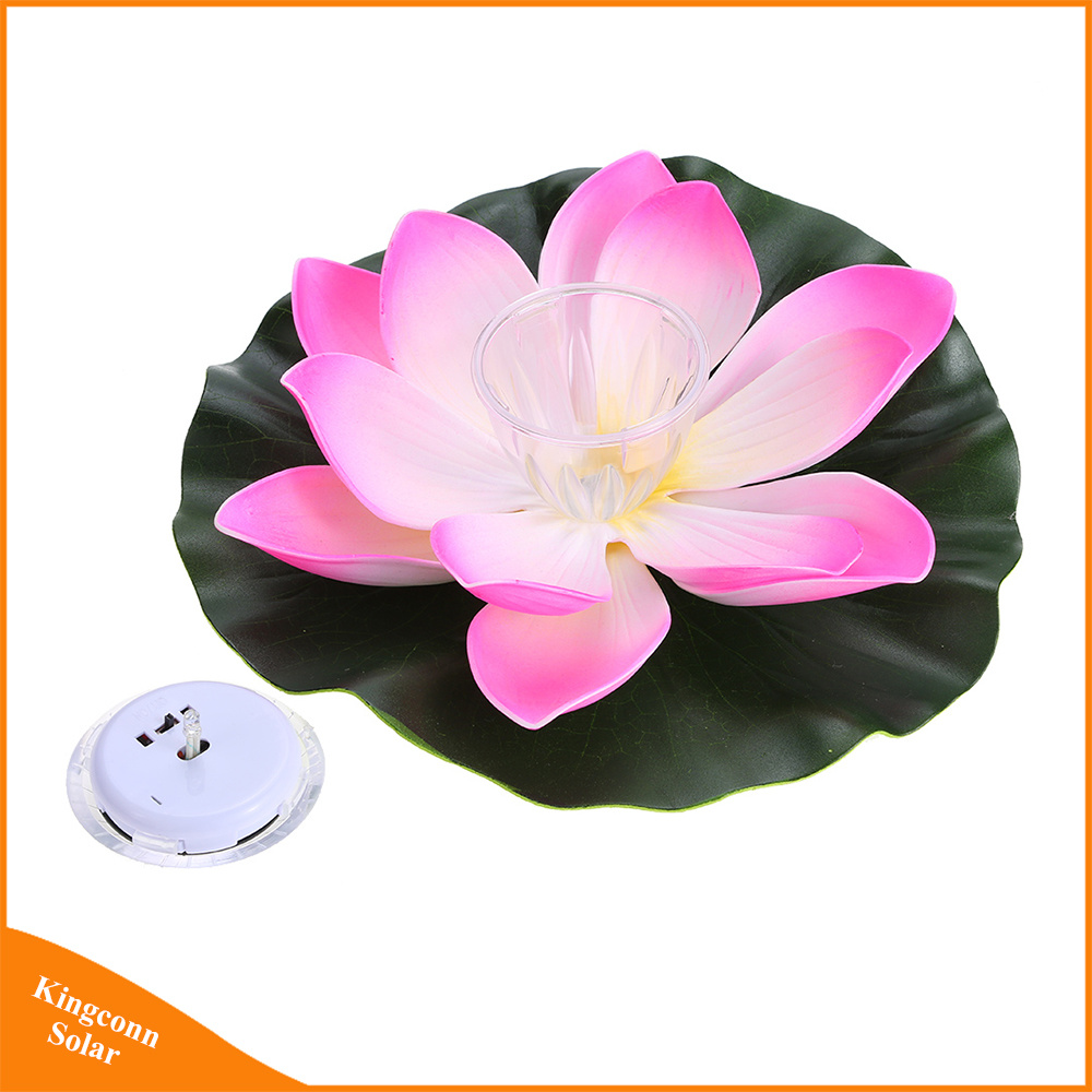 China solar powered multi colored led lotus flower lamp rgb water solar powered multi colored led lotus flower lamp rgb water resistant outdoor floating pond night light for garden pool izmirmasajfo