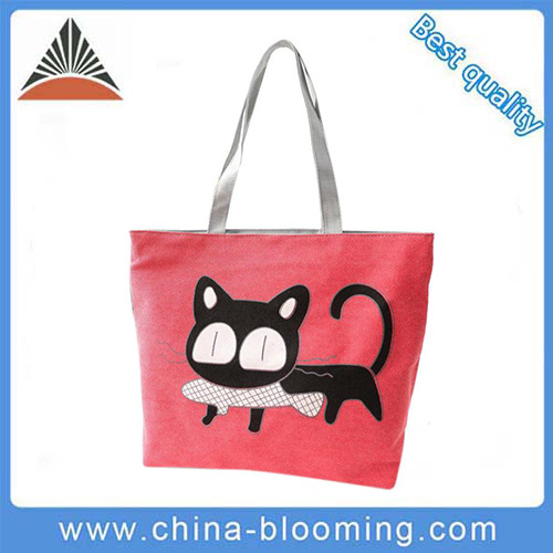 0d39a537bd China Women Cartoon Shopping Handbag Canvas Shoulder Beach Casual ...