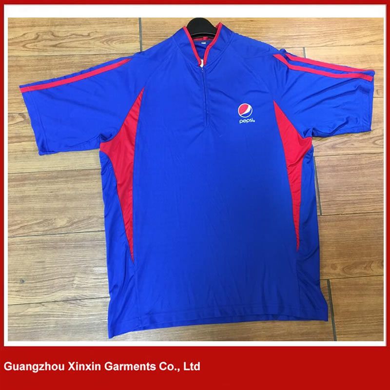 2017 Hot Design 95% Cotton 5% Spandex Bicolor Long Sleeves Polo T Shirts (P111) pictures & photos