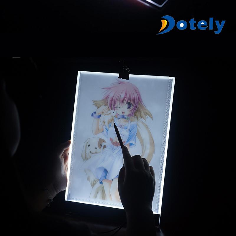 [Hot Item] A4 Ultra-Thin Portable LED Light Box Tracer Brightness LED Art  Craft Tracing Light Pad Light Box